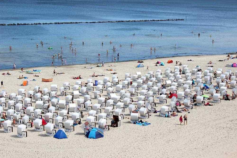 Ostsee Badestrand auf der Insel Rügen