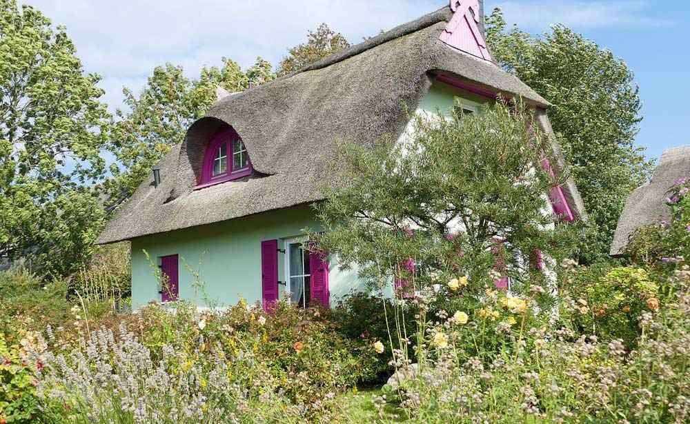 Reetgedeckte Häuser auf Rügen