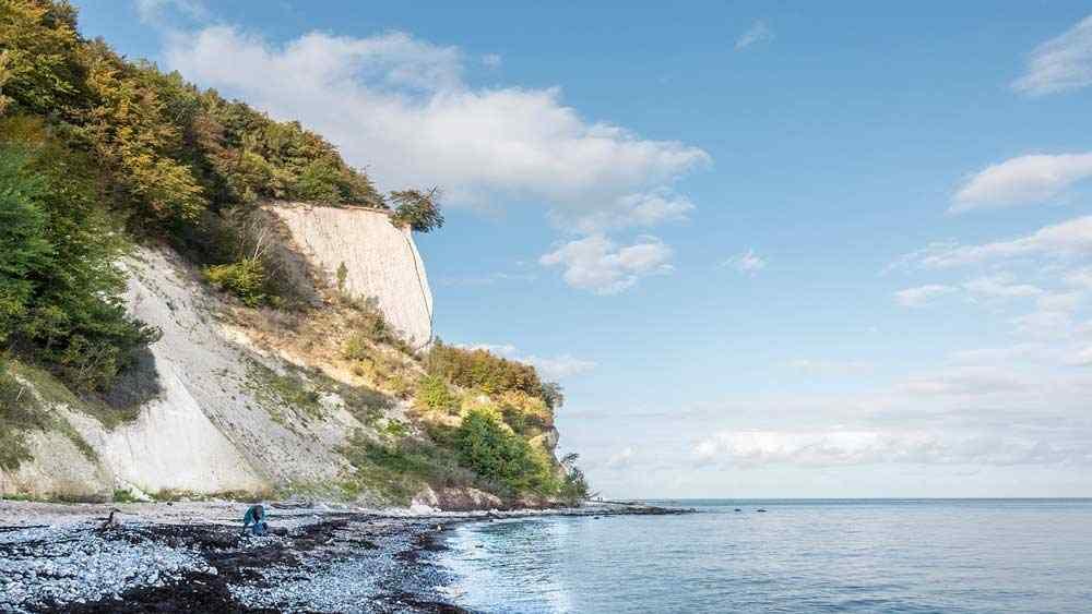 Kreideküste auf der Insel Rügen